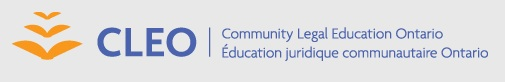 Community Legal Education Ontario Logo